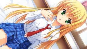 Rating: Safe Score: 104 Tags: blonde_hair game_cg green_eyes kanemoto_akari kobuichi long_hair noble_works seifuku tie yuzusoft User: Wiresetc