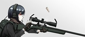 Rating: Safe Score: 5 Tags: black_hair close gloves gradient gun headphones microphone original red_eyes scarf short_hair weapon x_ace_k_x User: otaku_emmy