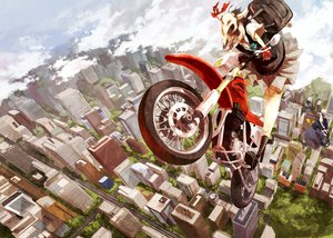 Rating: Safe Score: 56 Tags: 9ji building city clouds food gloves horns motorcycle original ribbons scenic seifuku User: Aesyl