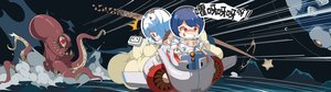 Rating: Safe Score: 9 Tags: 2girls aircraft bbsucg bili_bili_douga bili_girl_22 bili_girl_33 blue_hair bodysuit dualscreen ponytail red_eyes tentacles translation_request User: otaku_emmy